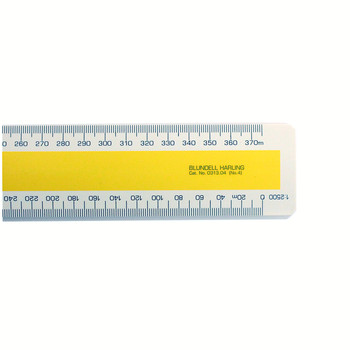 Verulam Scale Rules 1:1250 X 1:2500 - 1:1000 X 1:10560 (6In = 1 Mile)