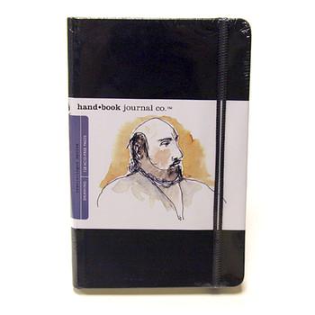 Hand Book Journal Sketchbook 5.5 x 8.25 Large Portrait Black