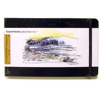 Hand Book Journal Sketchbook 8.25 x 5.5 Large Landscape Black
