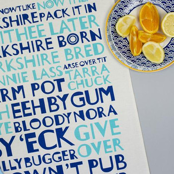 Yorkshire Tea Towel Blue