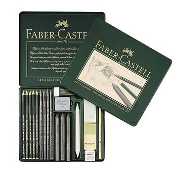 Faber Castell Pitt Graphite Tin Of 18 Items
