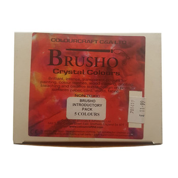 Brusho Assortment 5 conts.+ thickener Intro. Pack
