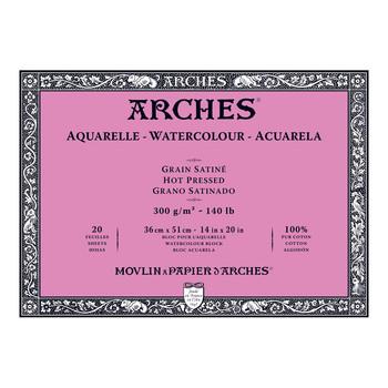 Arches Aquarelle Block Smooth 300gsm 14 x 20