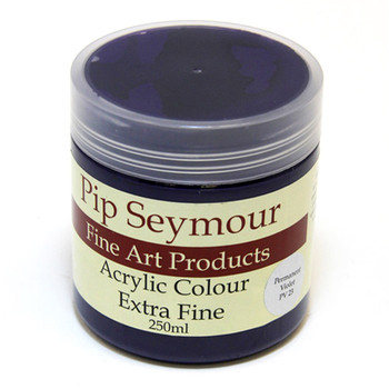 Pip Seymour Acrylic Permanent Violet 250ml (S1)