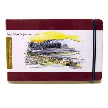 Hand Book Journal Sketchbook 8.25 x 5.5 Large Landscape Vermillion Red