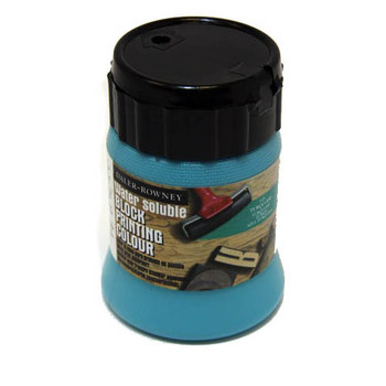 Water Soluble Block Printing Ink 250ml Turquoise