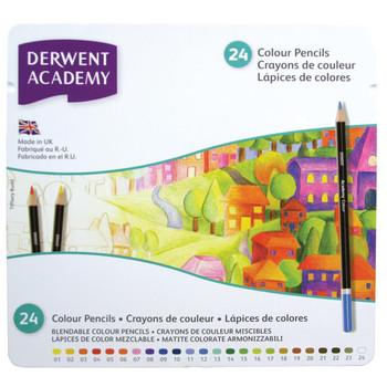 Derwent Academy Colour 24 tin