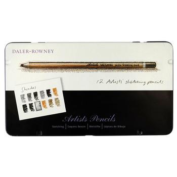Daler Rowney Sketch Pencil set - 12 Tin