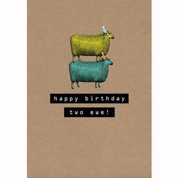 Card - Happy Birthday two ewe