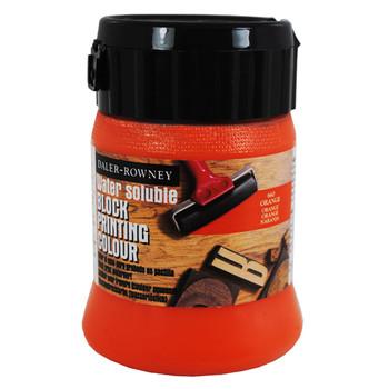 Water Soluble Block Printing Ink 250ml Orange