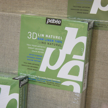 Pebeo Stretched Natural Linen Canvas