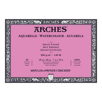 Arches Aquarelle Block Smooth 300gsm 7 x 10