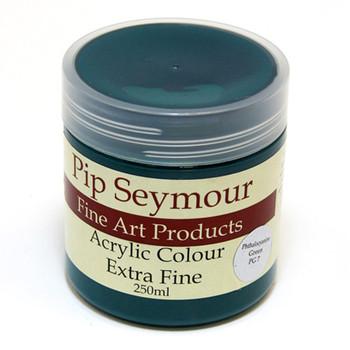 Pip Seymour Acrylic Phthalo Green 250ml (S1)