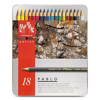 Pablo Colour Pencil Metal Tin With 18 Assorted Colours