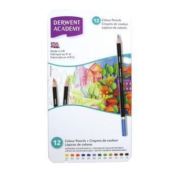 Derwent Academy Colour 12 tin