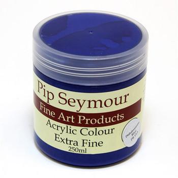 Pip Seymour Acrylic Pthalo Blue 250ml (S1)