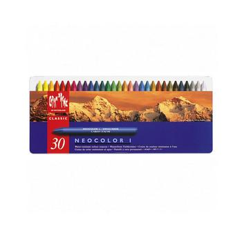 Neocolor I Water-Resistant Wax Pastels Metal Tin 30