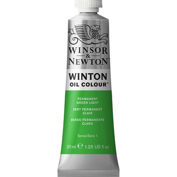 Winton Oil Colour 37ml Permanent Green Light