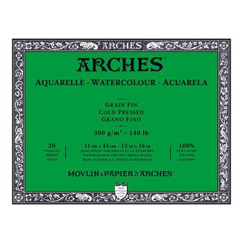 Arches Aquarelle Block (NOT) 300gsm 12x16