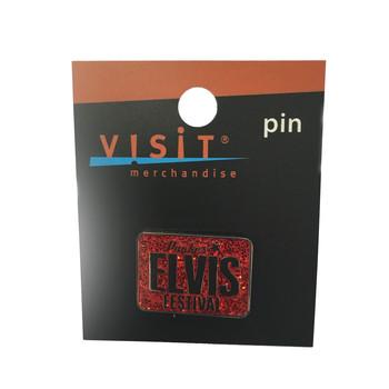 Souvenir Pin - Elvis Glitter