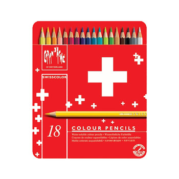Caran D'Ache Swisscolor - Metal Tin With 18 Assorted Colours