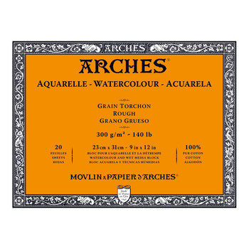 Arches Aquarelle Block Rough 300gsm 9x12