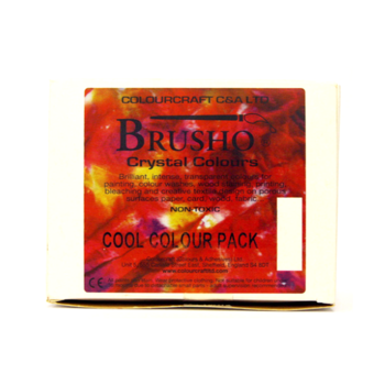 Brusho Assortment 5 conts.+ thickener Cool. Pack