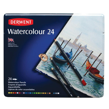 Derwent Tin of 24 Watercolour Pencils