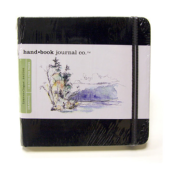 Hand Book Journal Sketchbook 5.5 X 5.5 Square Black