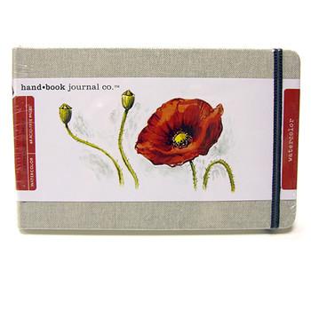 Hand Book Journal Watercolour Natural Linen 5.25 x 8.25