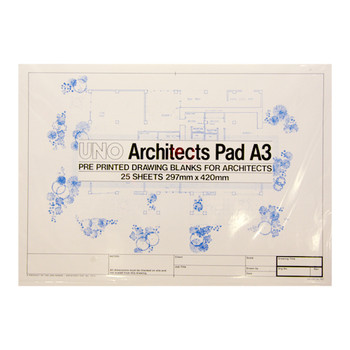Uno Architects Technical Paper A3 Pad