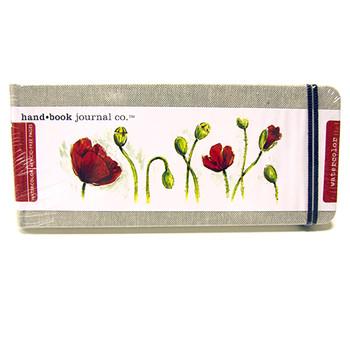 Hand Book Journal Watercolour Natural Linen 3.5 x 8.2