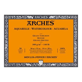 Arches Aquarelle Block Rough 300gsm 14x20