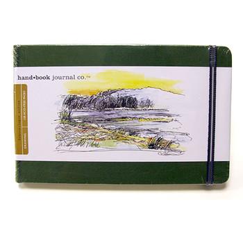 Hand Book Journal Sketchbook 8.25 x 5.5 Large Landscape Cadmium Green