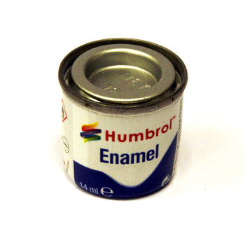 Humbrol Enamel Chrome Silver 14ml
