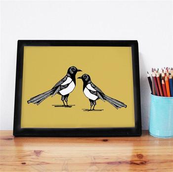 Mischievous Magpie Print