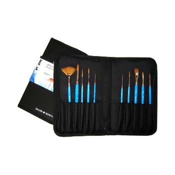 Aquafine Classic Zip Case - 10 Brush Set