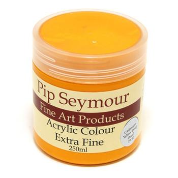 Pip Seymour Acrylic Cadmium Yellow Deep 250ml (S1)