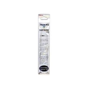Black Cartridge Refills for GFKP Pentel Pocket Brush Pen - Pack of 4