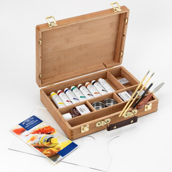 Artists' Oil Colour Bamboo Box