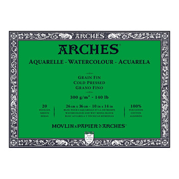 Arches Aquarelle Block (NOT) 300gsm 10x14