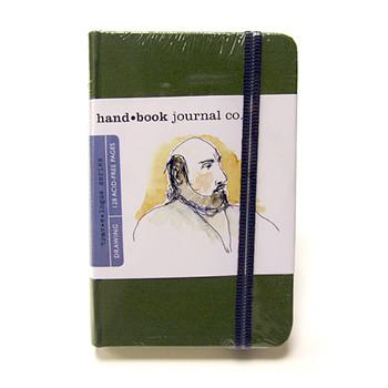 Hand Book Journal Sketchbook 5.5 x 3.5 Portrait Cadmium Green