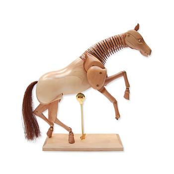 "Horse lay figure - Light wood varnished 12"""