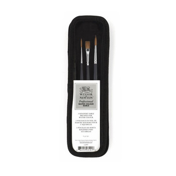 Winsor and Newton Watercolor Brush Set Short Handle x3