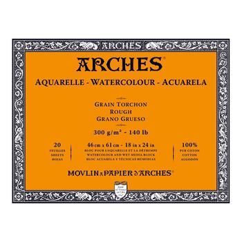 Arches Aquarelle Block Rough 300gsm 18x24