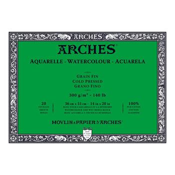 Arches Aquarelle Block (NOT) 300gsm 14x20