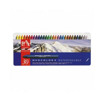 Caran D'Ache Neocolor II Water-Soluble Wax Pastels Metal Tin 30