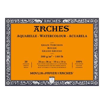 Arches Aquarelle Block Rough 300gsm 10x14