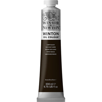 Winton Oil Colour 200ml Lamp Black