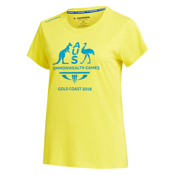 Team Australia Women's Logo T-Shirt Yellow Image
